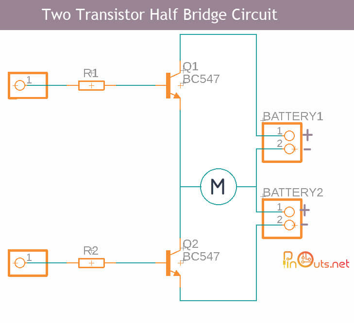 2 transistor Motor Control Circuit
