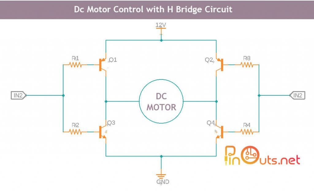 H bridge motor control circuit