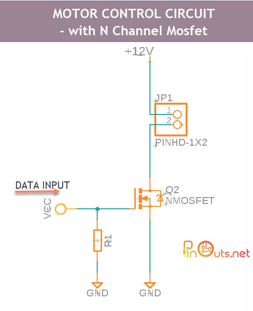 DC Motor Control Circuits With Mosfet