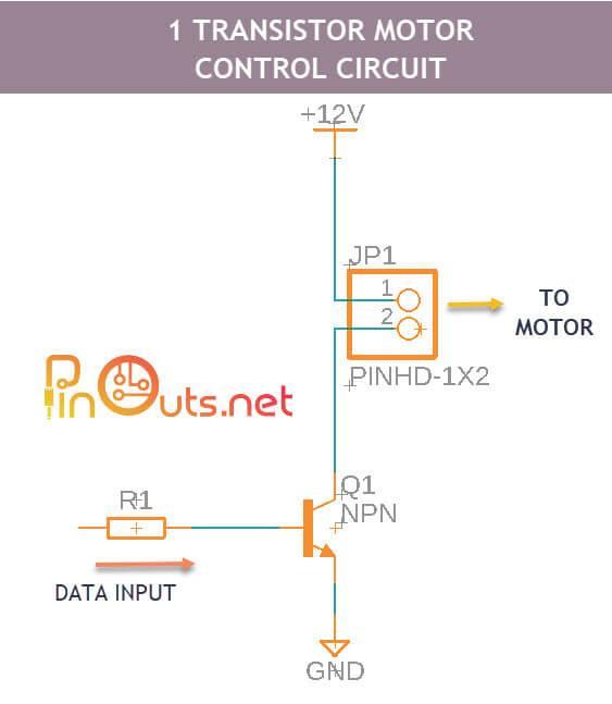 1 transistor motor control circuit